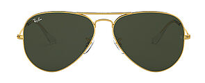 RAY-BAN Pilotensonnenbrille in gold